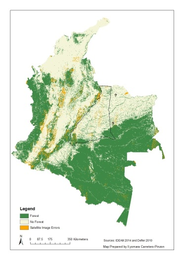 IUCN Map Aotus brumbacki